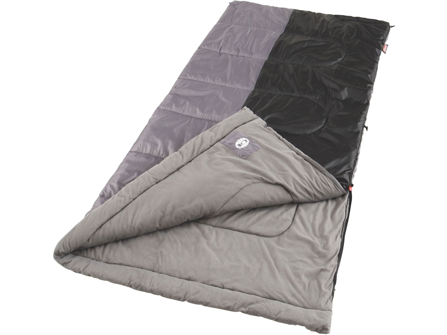 Coleman Biscayne 50 Degree Big & Tall Sleeping Bag Polyester Gray and Black