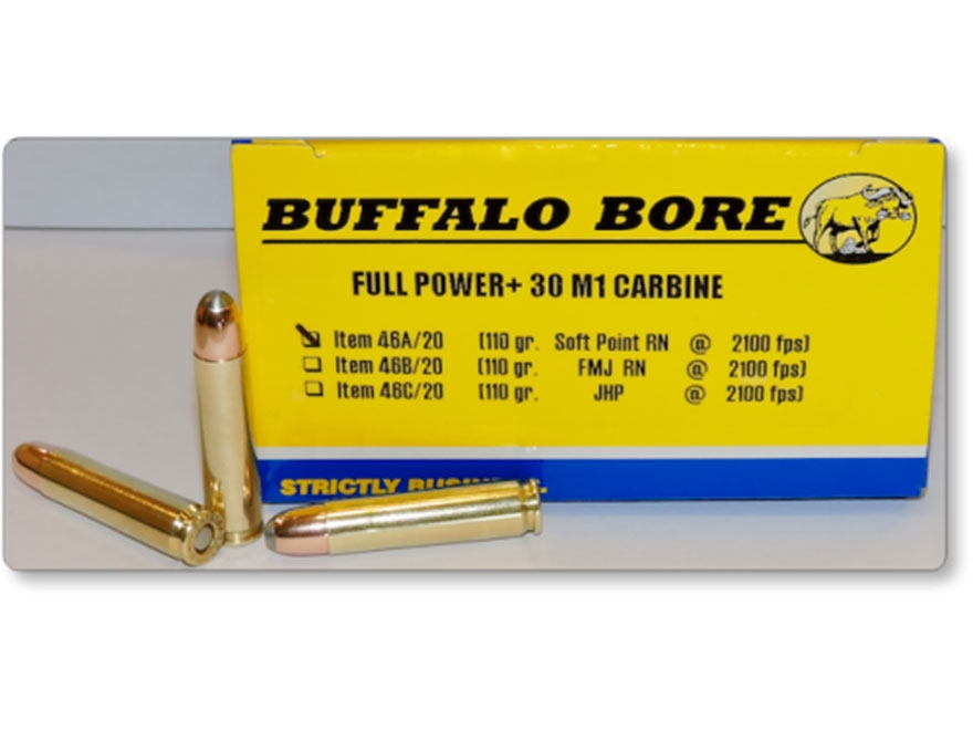 Buffalo Bore Ammunition 30 Carbine 110 Grain Soft Point Box of 20