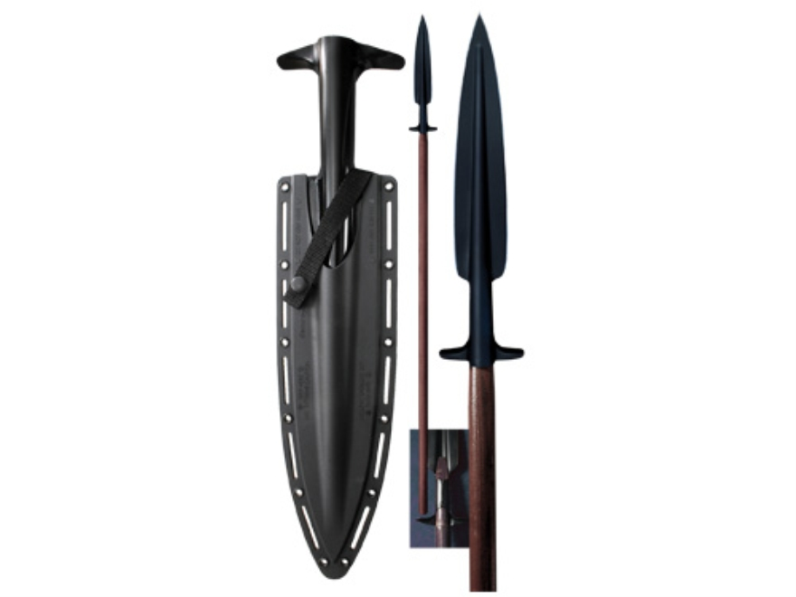 """Cold Steel Boar Spear 18.5"""" SK-5 Steel Blade 82.13"""" Overall Length Ash Staff Brown"""