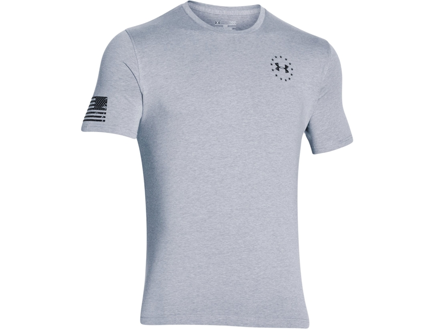 Under Armour Men's UA Freedom Flag Shirt Short Sleeve Cotton and Polyester