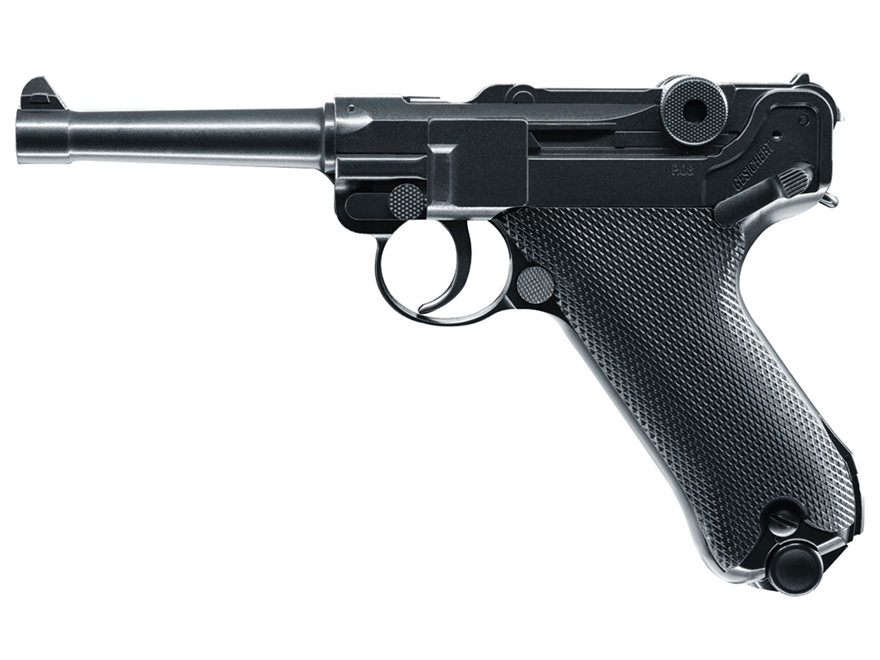 Umarex Legends P.08 Blowback Air Pistol 177 Caliber BB Black