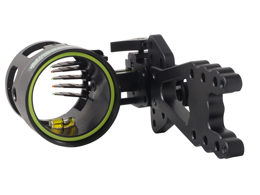 "HHA Brushfire FX-5519 5-Pin Bow Sight .019"" Pin Diameter Right Hand Aluminum Black"