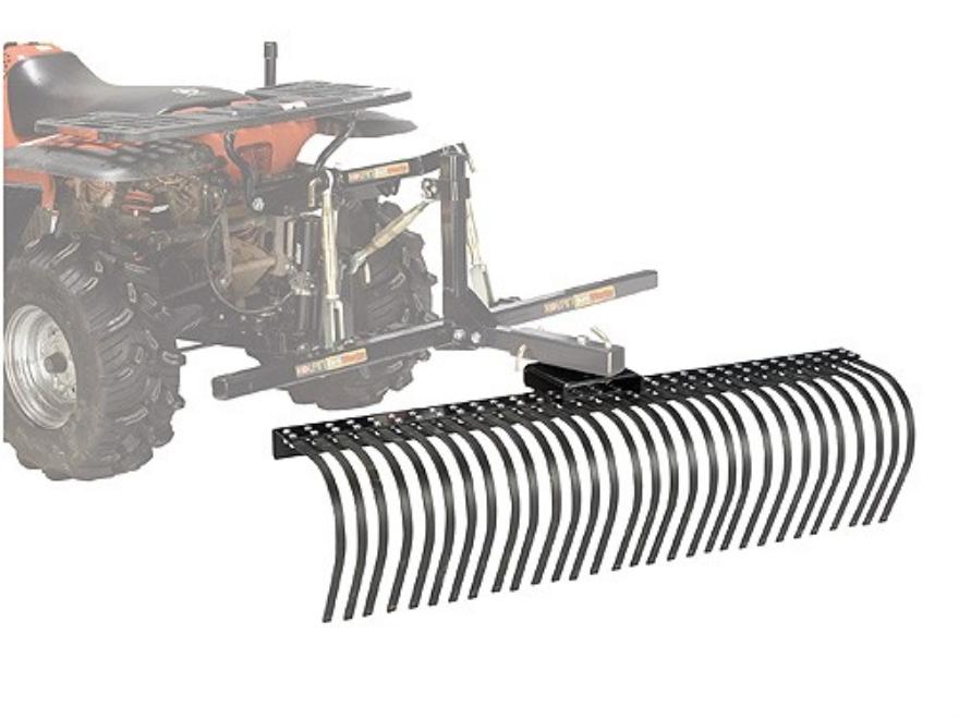 "Kolpin DirtWorks ATV 60"" Landscape Rake Steel Black"
