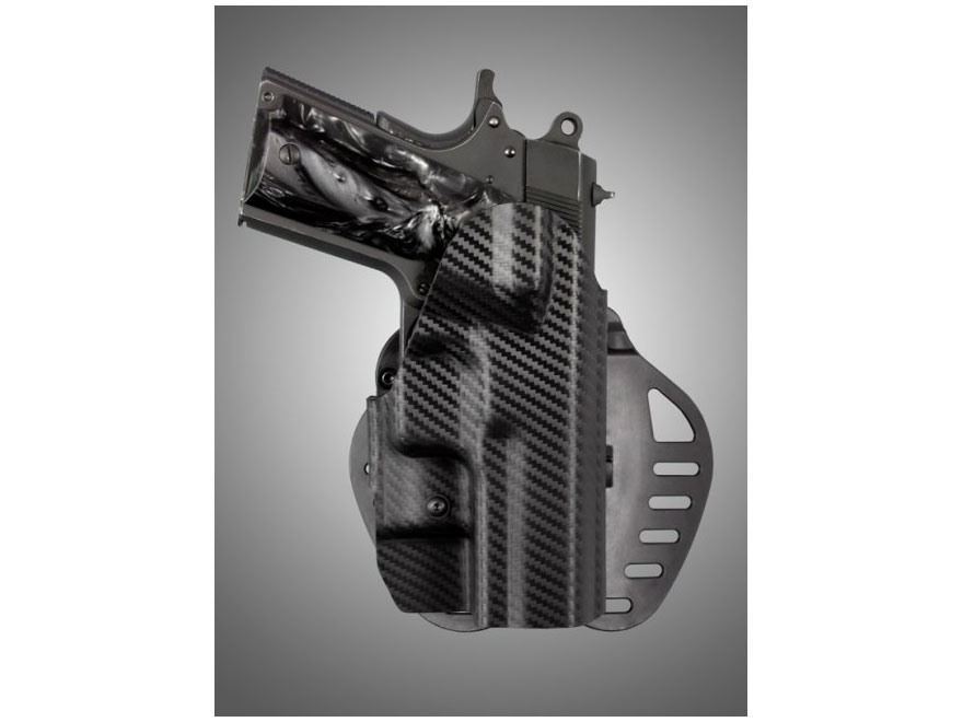 Hogue PowerSpeed Concealed Carry Holster Outside the Waistband (OWB) Right Hand 1911 Of...