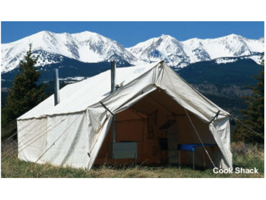 Montana Canvas 18' x 23' Wall Tent Montana Blend with 2 Doors (East and West) and 2 Sto...