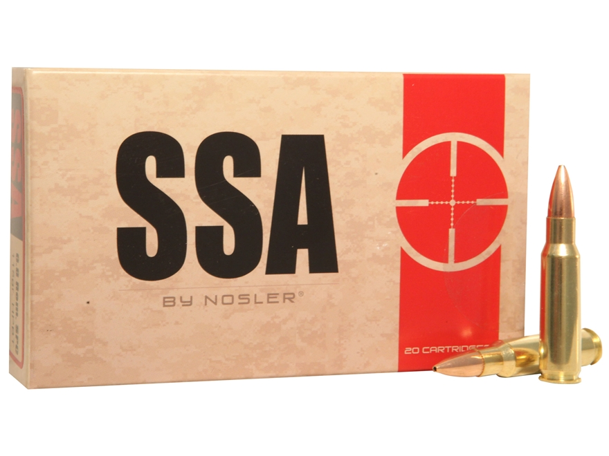 Silver State Armory Ammunition 6.8mm Remington SPC 115 Grain Nosler Custom Competition ...