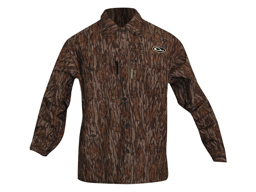 Drake Men's EST Heat-Escape Waterproof Shirt Long Sleeve Polyester