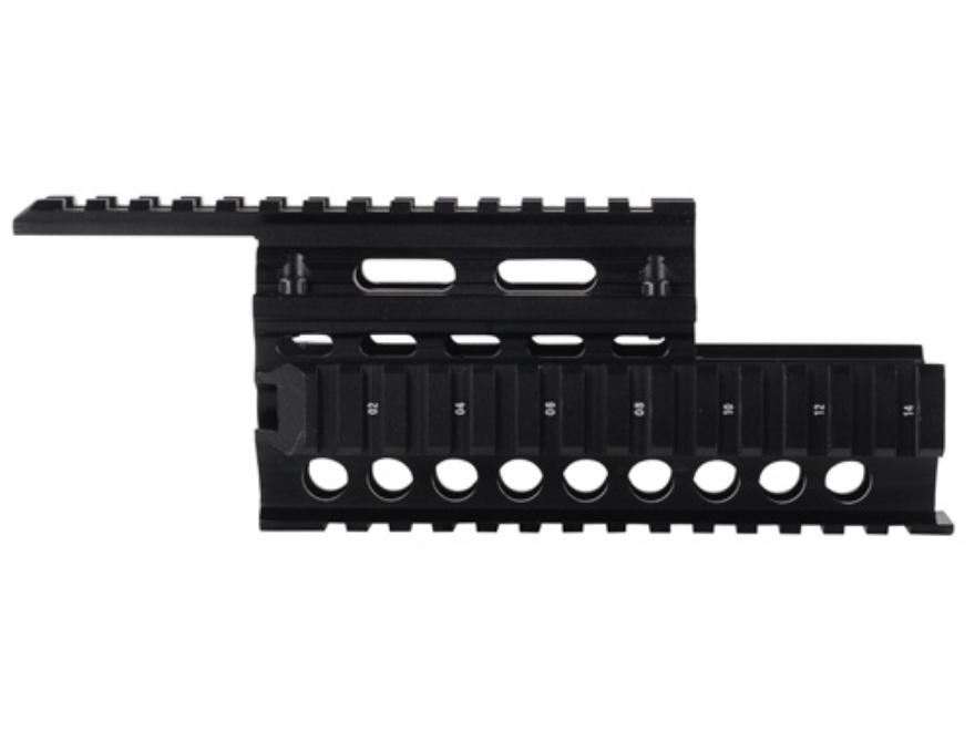 GMG 2-Piece Handguard Quad Rail AK-47, AK-74 Aluminum Black