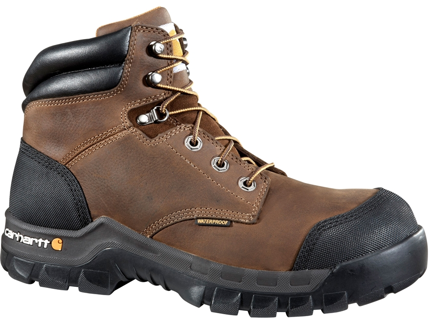 """Carhartt Rugged Flex 6"""" Waterproof Composite Safety Toe Work Boots Leather Men's"""
