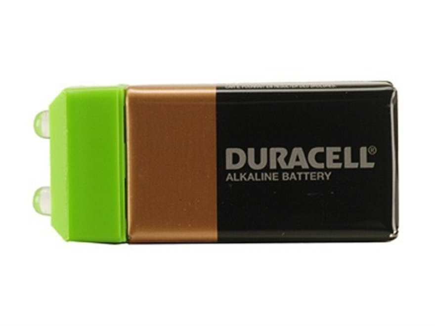 CrossTac Pak-Lite Flashlight fits on 9-Volt Battery Green LEDs