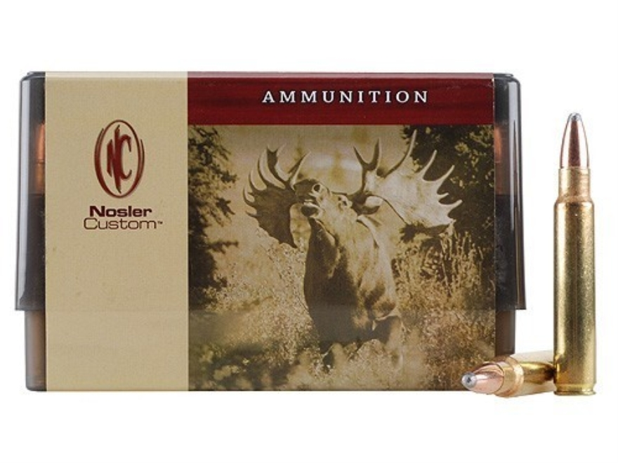 Nosler Custom Ammunition 375 Remington Ultra Magnum 300 Grain Partition Spitzer Box of 20