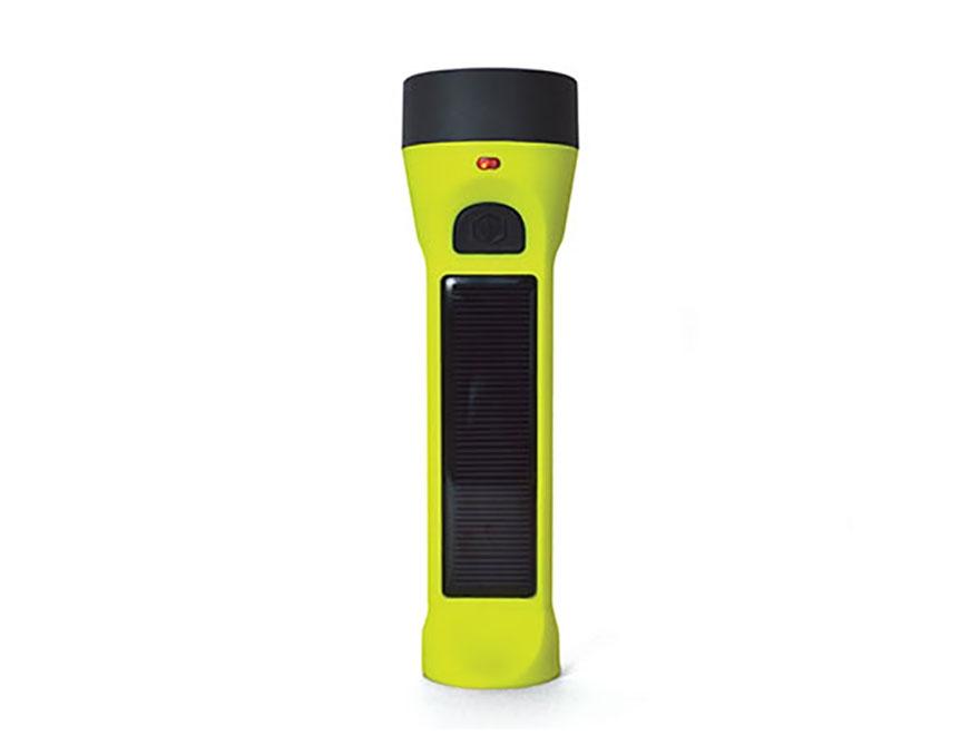 HybridLight Journey 160 Solar Flashlight LED Rechargeable Battery