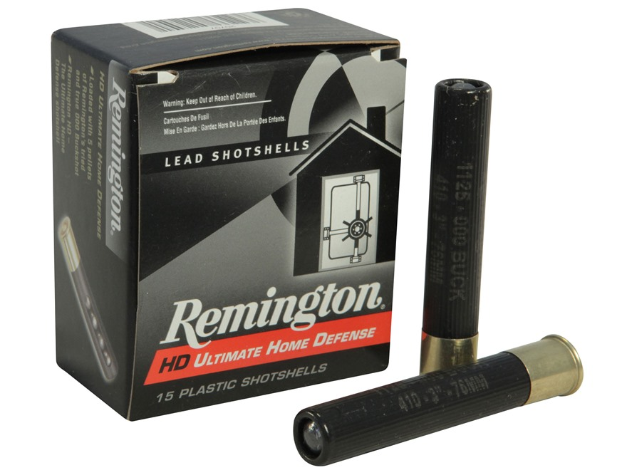 "Remington HD Ultimate Defense Ammunition 410 Bore 3"" 000 Buckshot 5 Pellets Box of 15"