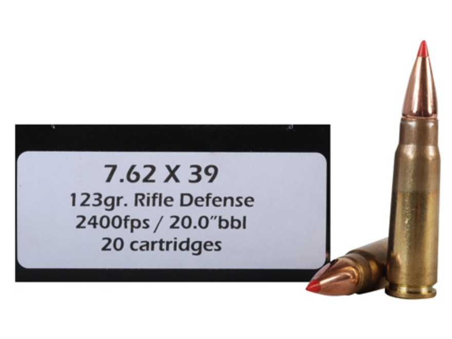 Doubletap Ammunition 7.62x39mm 123 Grain Rifle Defense Box of 20