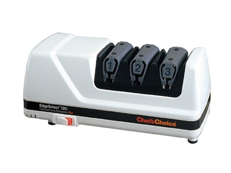 Chef's Choice Diamond Hone EdgeSelect Plus Electric Knife Sharpener #120 White