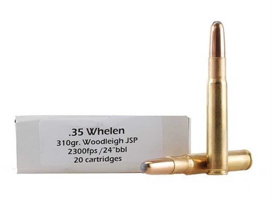 DoubleTap Ammunition 35 Whelen 310 Grain Woodleigh Weldcore Box of 20
