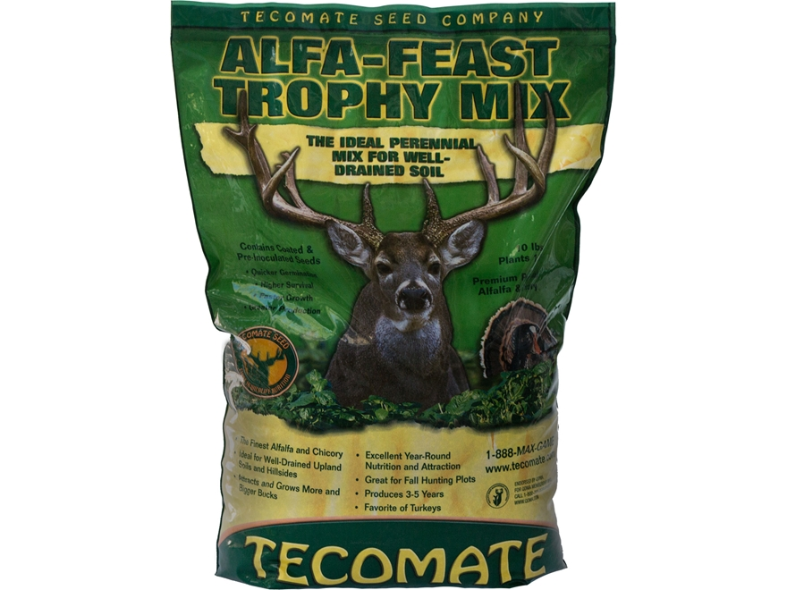 Tecomate Alfa-Feast Trophy Mix Perennial Food Plot Seed 10 lb
