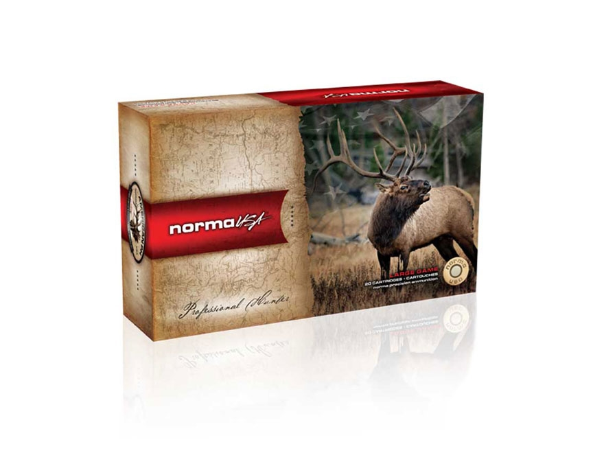 Norma USA American PH Ammunition 338 Winchester Magnum 230 Grain Oryx Protected Point B...