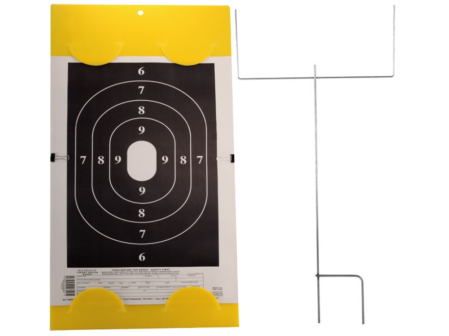 "EZ Target Handgun Silhouette Master Pack Target 14"" x 22"" Paper Pack of 15 with Stand a..."