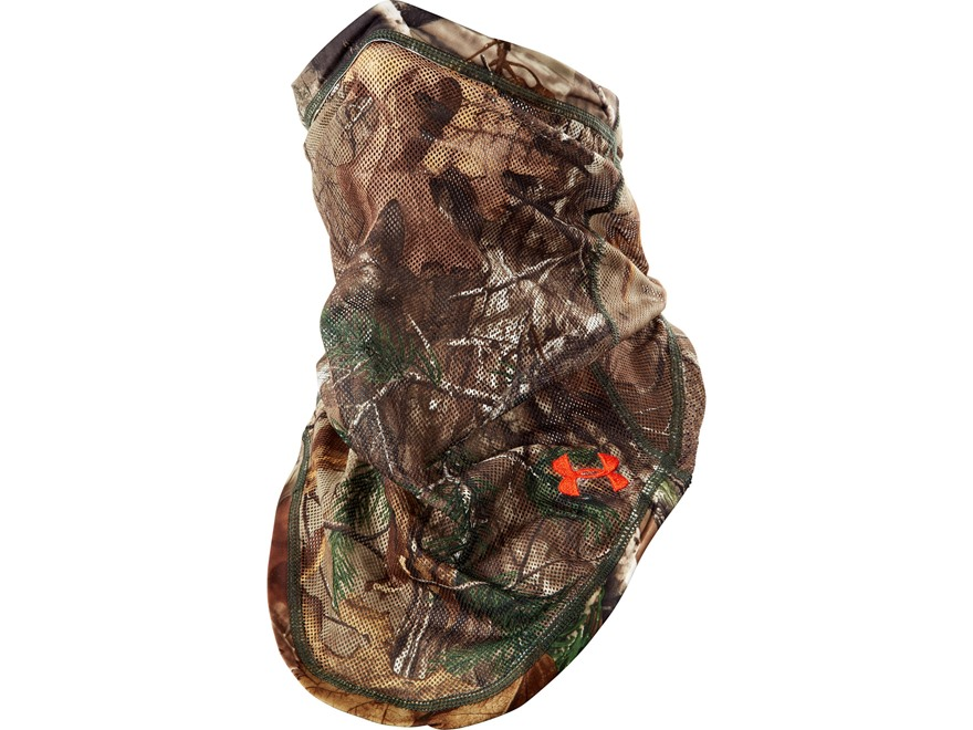 Under Armour UA Camo Mesh Face Mask Synthetic Blend Realtree Xtra Camo