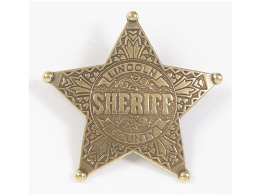 Collector's Armoury Replica Old West Antique Lincoln County Sheriff Badge