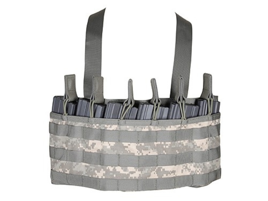 BLACKHAWK! Low Profile Chest Rig Holds 6 AR-15 30 Round Magazine Nylon ACU Camo