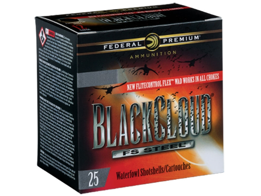 "Federal Premium Black Cloud Ammunition 12 Gauge 2-3/4"" 1-1/8 oz BB Non-Toxic FlightStop..."