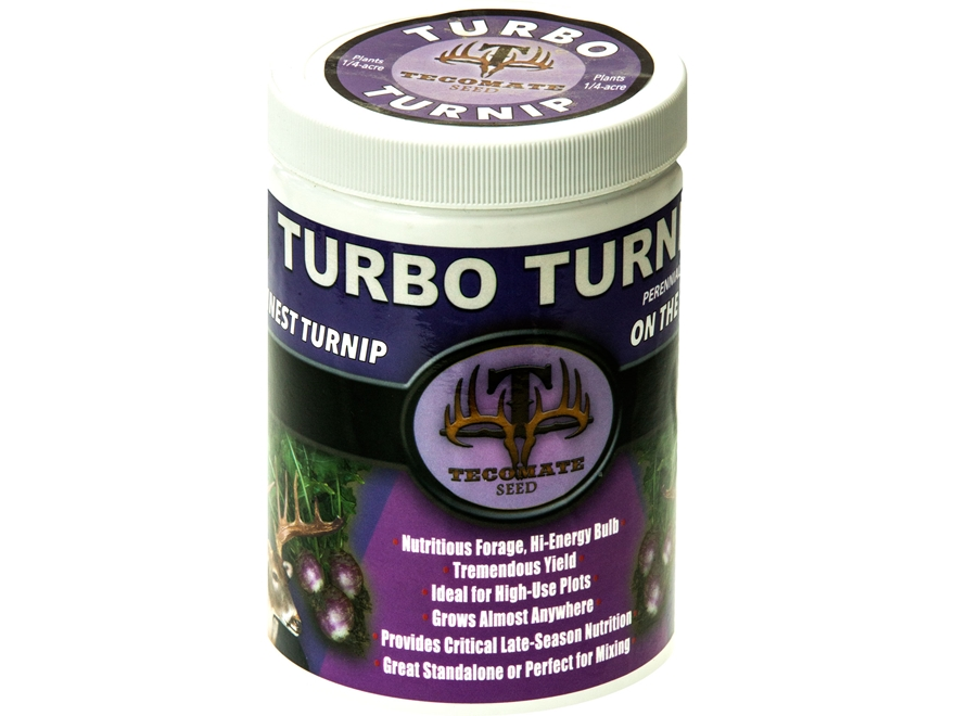 Tecomate Turbo Turnip Pounder Annual Food Plot Seed 1 lb