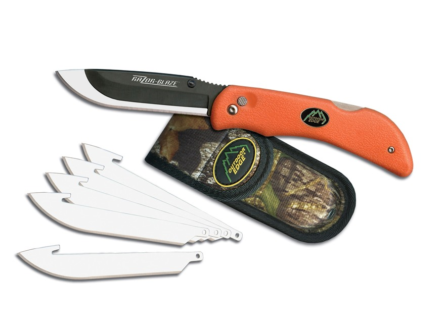 "Outdoor Edge Razor-Lite Folding Hunting Knife 3-1/2"" Replaceable Stainless Steel Blade ..."