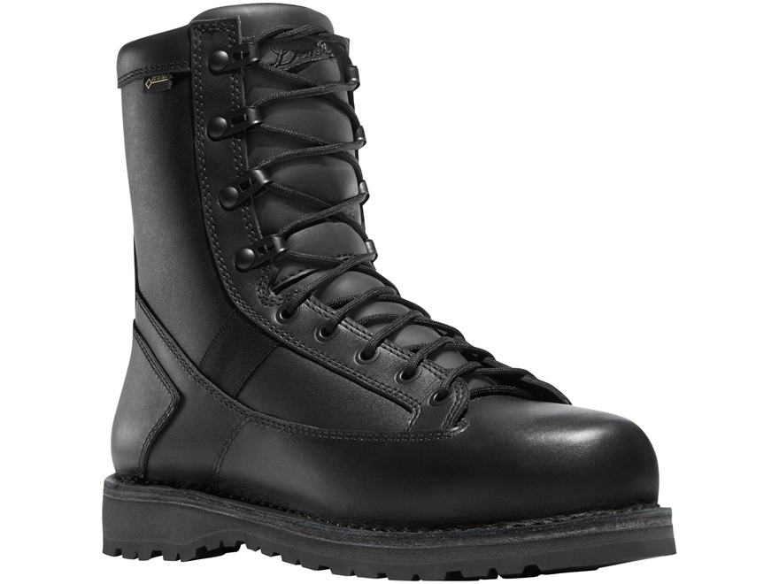 "Danner Stalwart 8"" Side-Zip Tactical Boots Leather/Nylon Black Men's"
