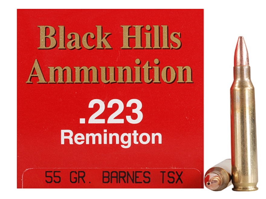 Black Hills Ammunition 223 Remington 55 Grain Barnes Triple-Shock X Bullet Hollow Point...