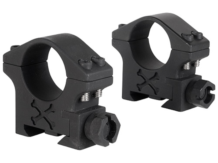 """Talley 1"""" Tactical Picatinny-Style Rings Matte (Black Armor)"""