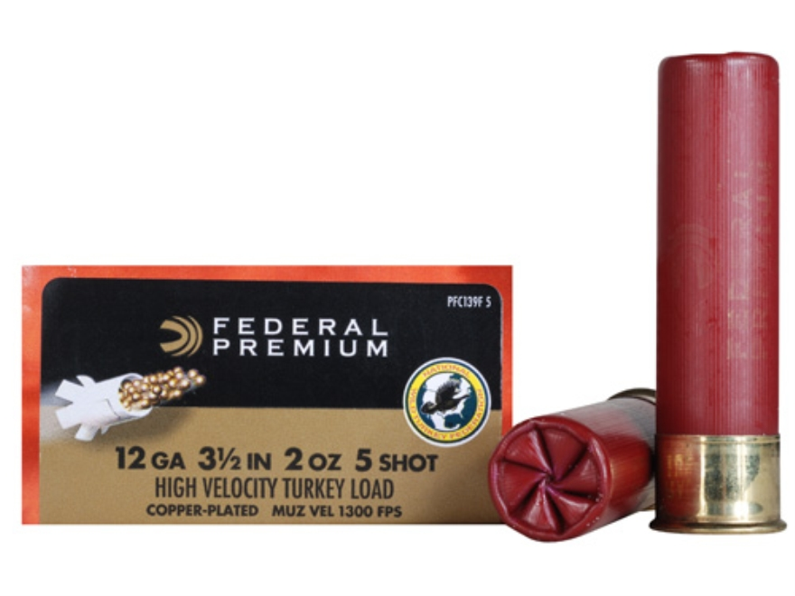 "Federal Premium Mag-Shok Turkey Ammunition 12 Gauge 3-1/2"" 2 oz #5 Copper Plated Shot H..."