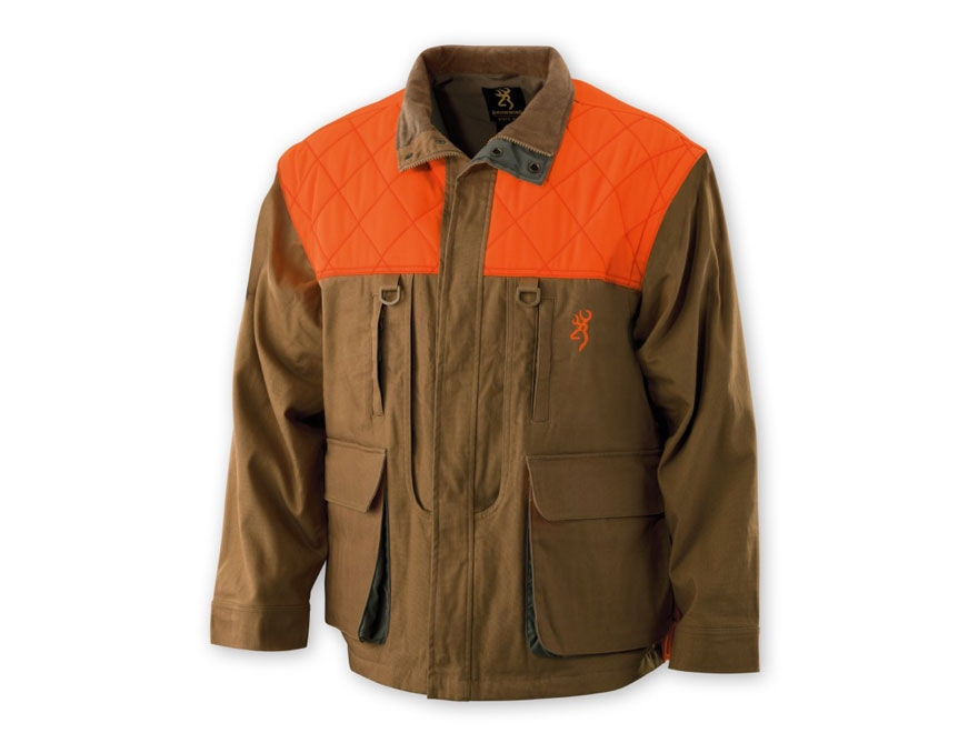 Browning Men's Pheasants Forever Jacket Cotton and Polyester Field Tan and Blaze Orange...