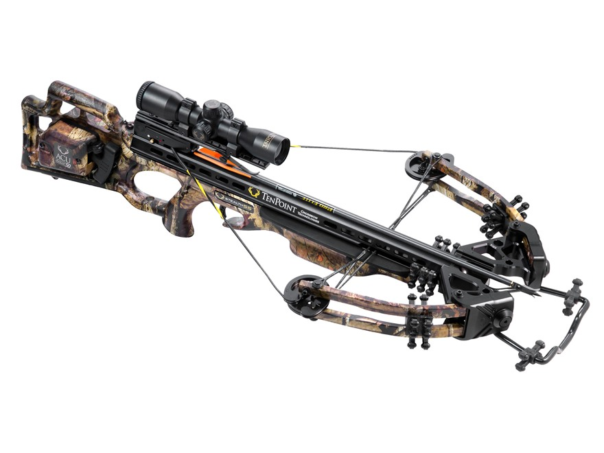 TenPoint Stealth SS Crossbow Package with 3X Pro-View 2 Scope and ACUdraw 50 Mossy Oak ...