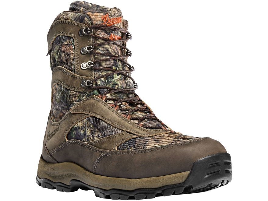 "Danner High Ground 8"" 400 Gram Insulated Waterproof Hunting Boots Leather and Nylon Mos..."