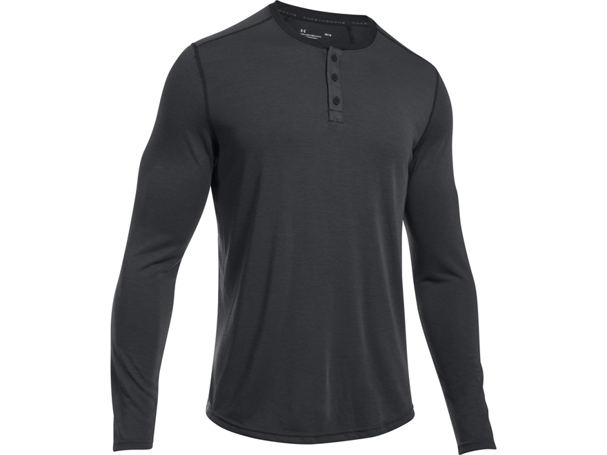 Under Armour Men's UA Threadborne Knit Henley Long Sleeve Polyester
