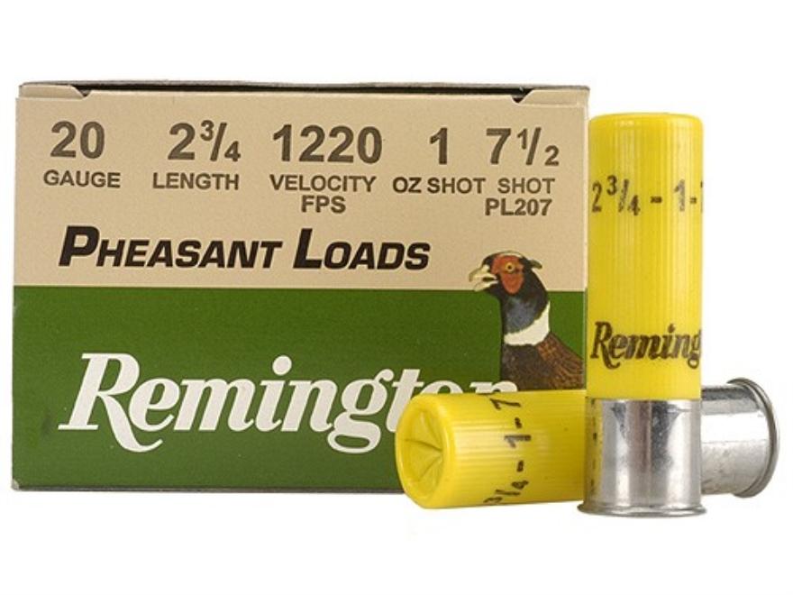 "Remington Pheasant Ammunition 20 Gauge 2-3/4"" 1 oz #7-1/2 Shot Box of 25"