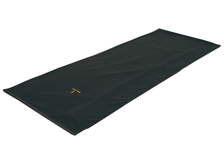 "Browning Alpine Gold Buckmark Fleece Sleeping Bag 33"" x 80"" Polyester Black"