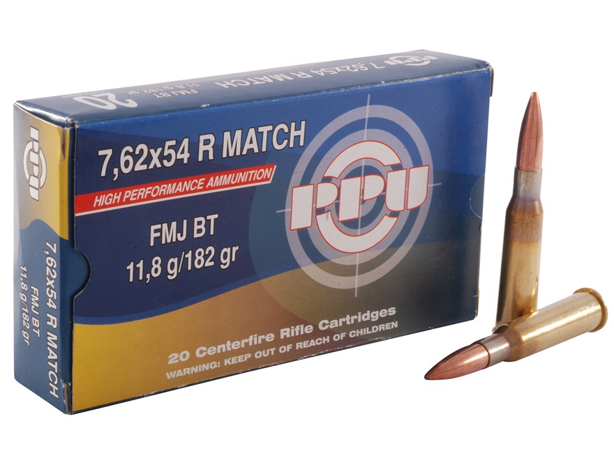 Prvi Partizan Match Ammunition 7.62x54mm Rimmed Russian 182 Grain Full Metal Jacket Box...