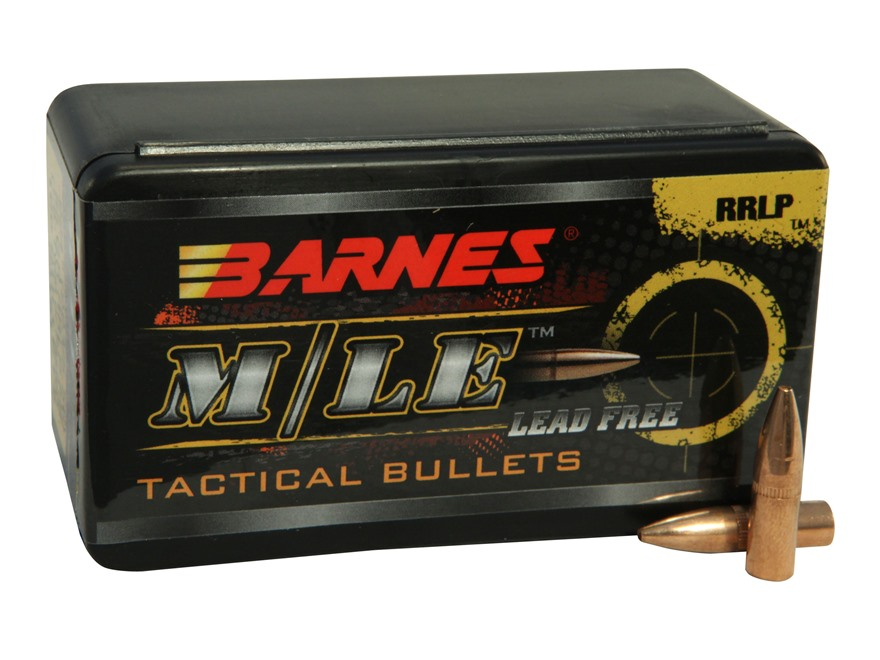 Barnes RRLP Bullets 22 Caliber (224 Diameter) 55 Grain Frangible Flat Base Lead-Free Bo...
