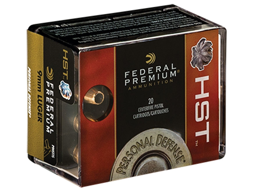 Federal Premium Personal Defense Ammunition 9mm Luger 147 Grain HST Jacketed Hollow Poi...