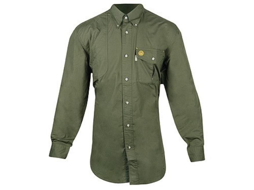 "Beretta Shooting Shirt Long Sleeve Cotton Poplin Rifle Green Medium ( 38"" to 40"")"