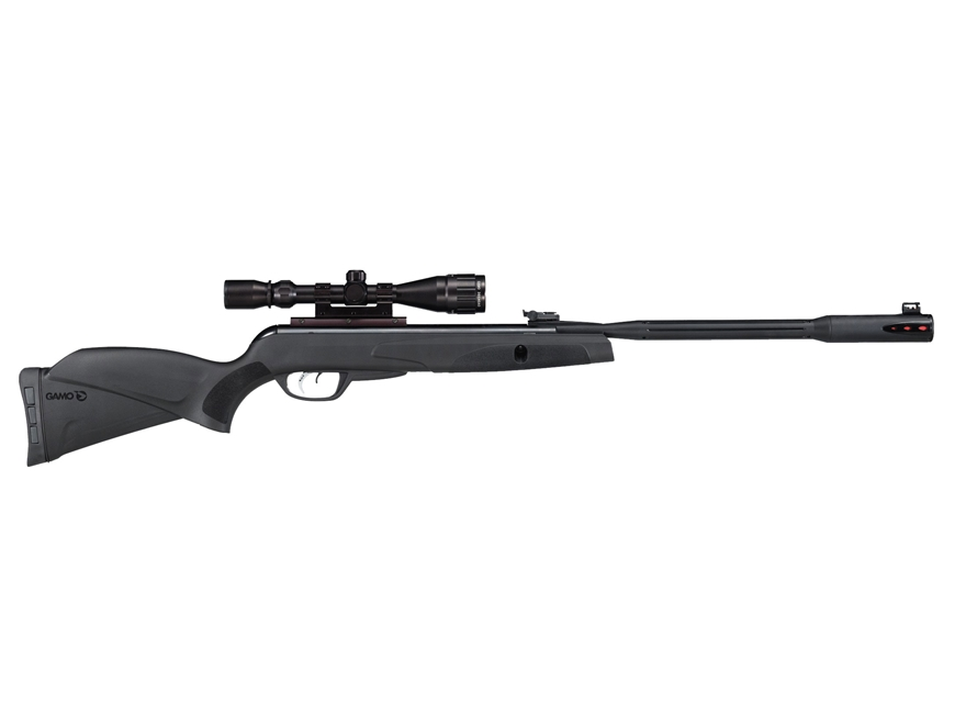 Gamo Whisper Fusion Pro Break Barrel Air Rifle 22 Caliber Pellet Black Synthetic Stock ...