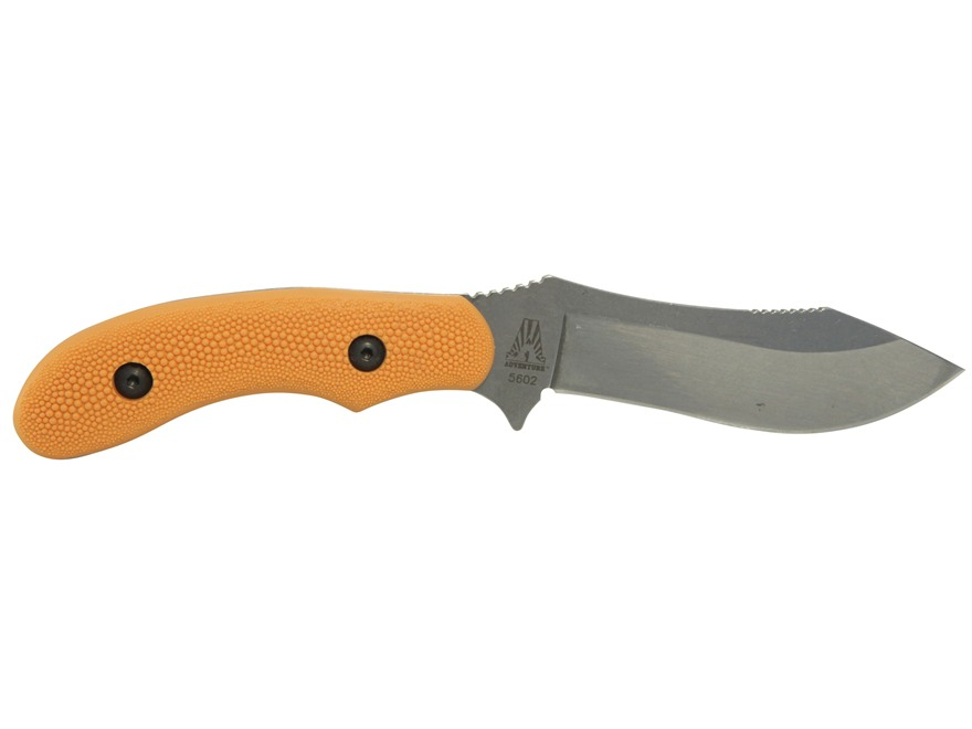 """KA-BAR Adventure Gamestalker Fixed Blade Knife 4"""" Drop Point 440A Stainless Steel Blade..."""