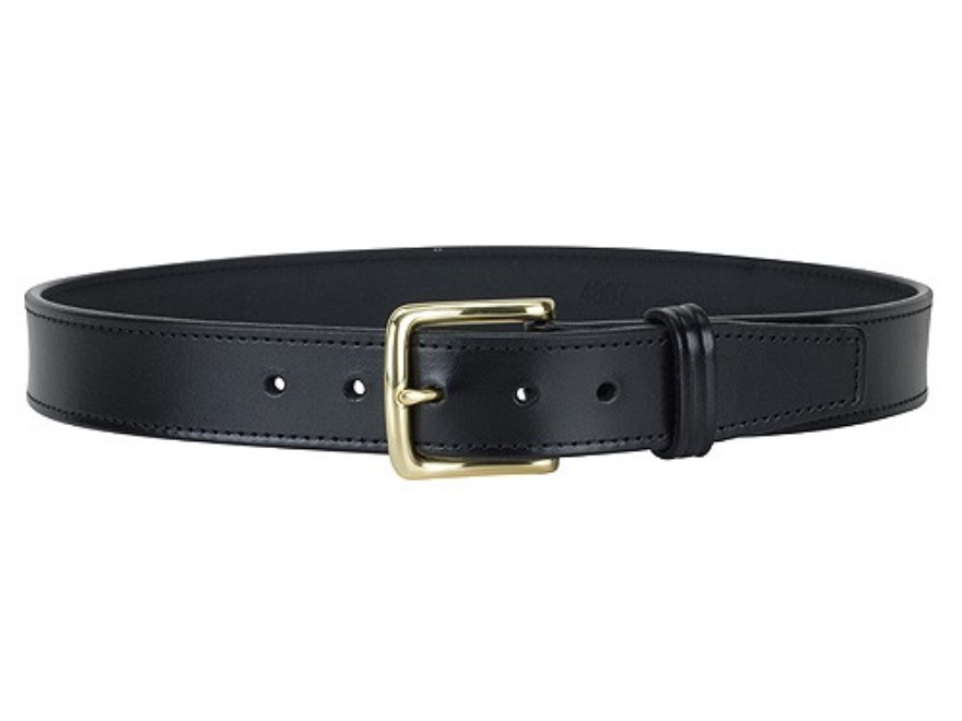 "Gould & Goodrich B191 Dress Belt 1-1/2"" Brass Buckle Leather Black 38"""
