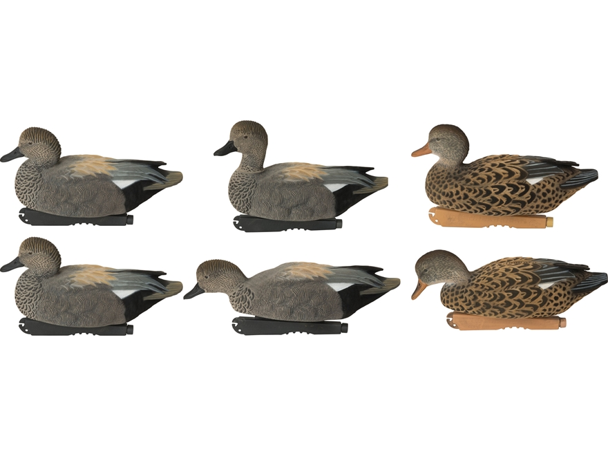 GHG FFD Pro-Grade Gadwall Duck Decoy Pack of 6