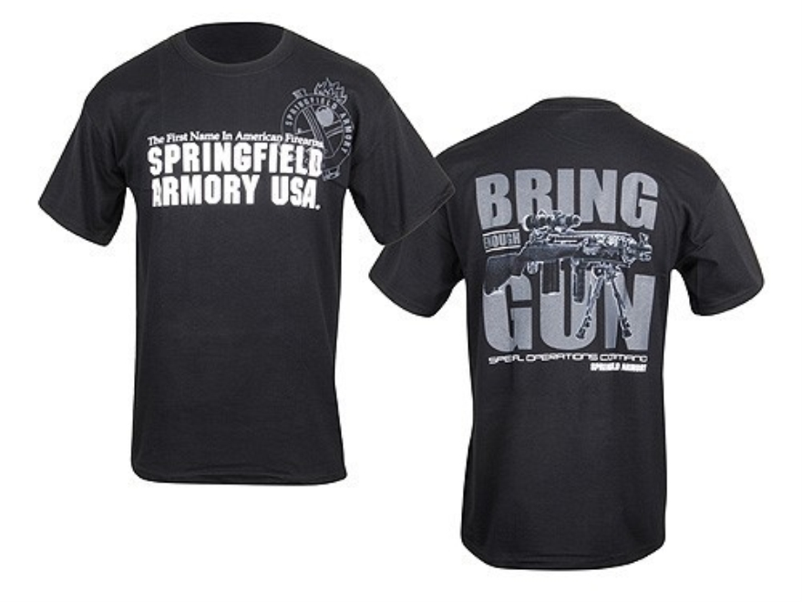 Springfield Armory SOCOM Bring Enough Gun T-Shirt Short Sleeve Cotton