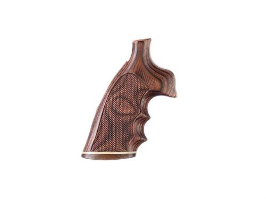 Hogue Fancy Hardwood Conversion Grips with Accent Stripe, Finger Grooves and Contrastin...