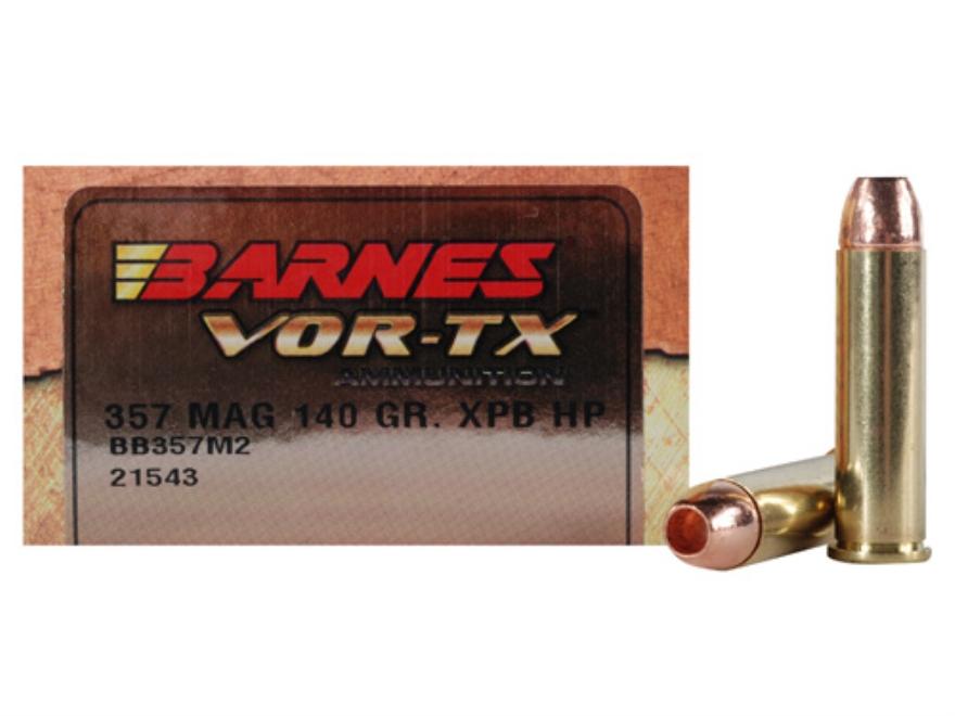 Barnes VOR-TX Ammunition 357 Magnum 140 Grain XPB Hollow Point Lead-Free Box of 20